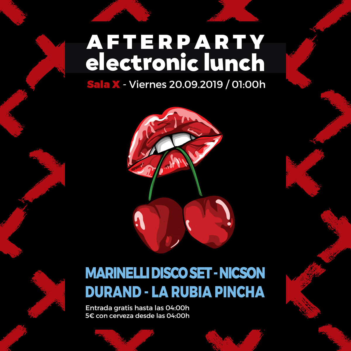 AFTERPARTY ELECTRONIC LUNCH CARDINI INSTAGRAM