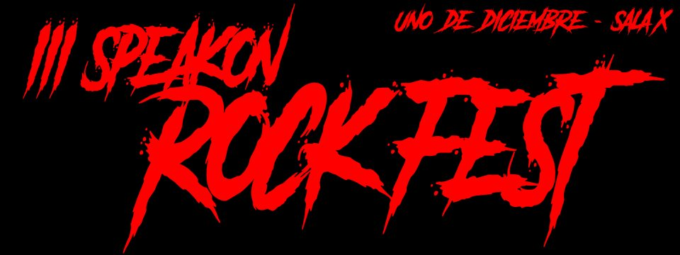 III SPEAKON ROCK FEST BANNER
