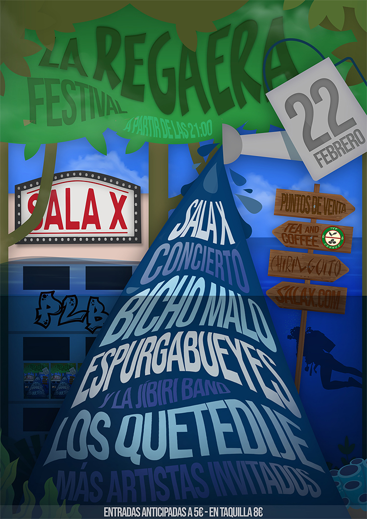 LA REGAERA FEST CARTEL FINAL SALA X