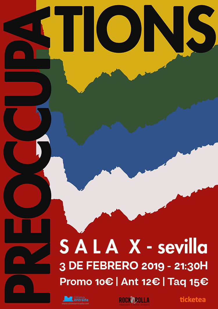 PREOCCUPATIONS cartel sala x